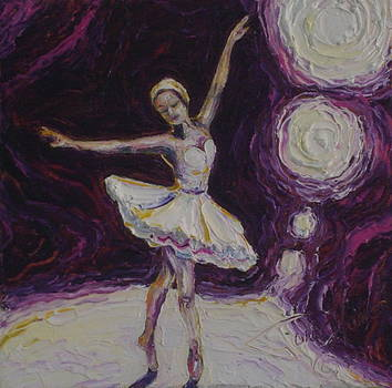 Ballerina Dancin in Purple by Paris Wyatt Llanso