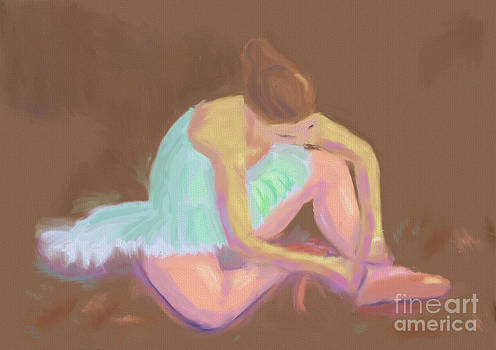 Ballerina Tying her Shoes by Arlene Babad