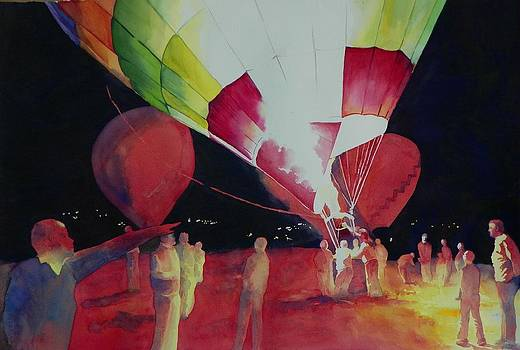 Balloon Glow by Celene Terry