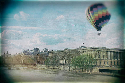 Balloon Over Paris by James Bethanis