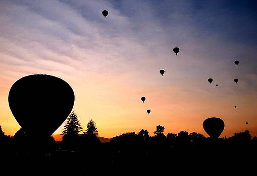 Balloon Sunrise in Boise by Greg Bush
