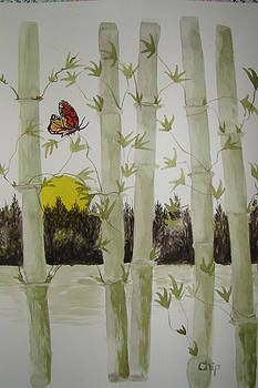 Bamboo And Butterflies by Chip Picott