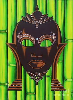 Bamboo Mask by Joseph Sonday