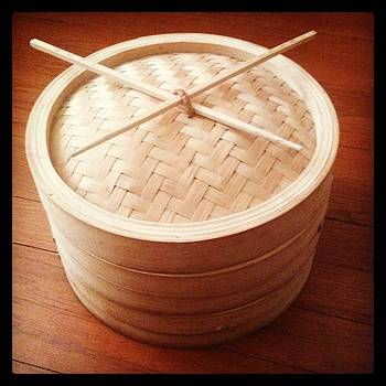 Bamboo Steamer with Natural Chop Sticks by Brett Smith