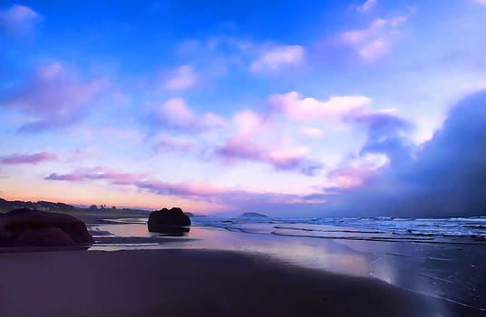 Bandon Beach Painted Sunset by Athena Mckinzie