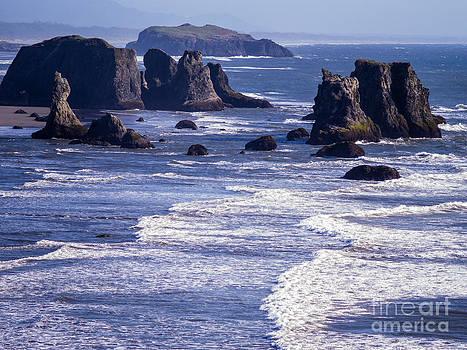 Bandon Beach Seastacks 6 by Tracy Knauer