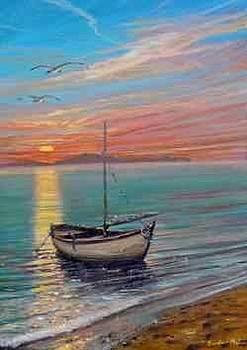 Barca Al Tramonto N.12 by Sandro  Mulinacci