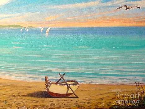 Barca In Spiaggia  by Sandro  Mulinacci