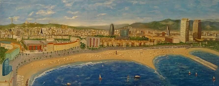 Barcelona Skyline by Juan Sandin