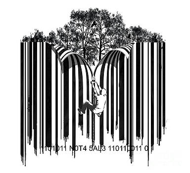 Sassan Filsoof - Barcode graffiti poster print Unzip the code