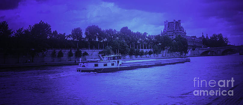 Barge on River Seine by Brian R Tolbert