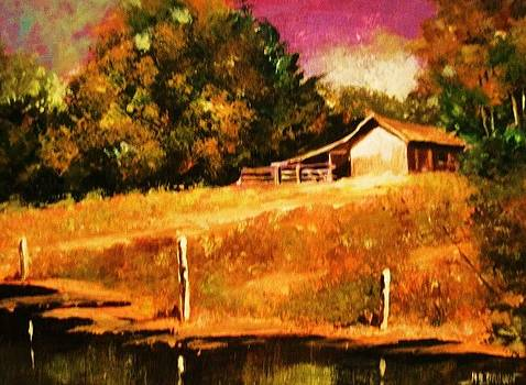 Barn Above the Creekbed by Al Brown