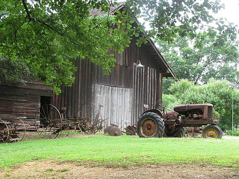Barn and yard equipment by Pamela Morrow