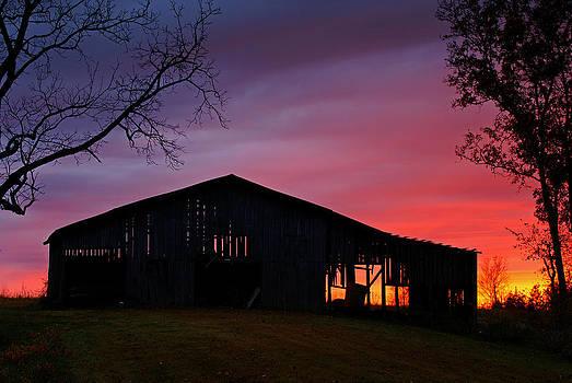Barn at Sundown by Keith Bridgman