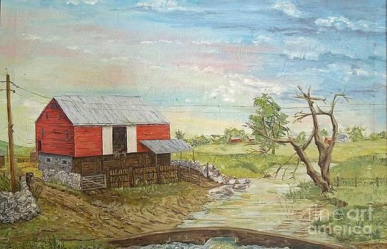 Barn Beside Cooks Creek by Judith Espinoza