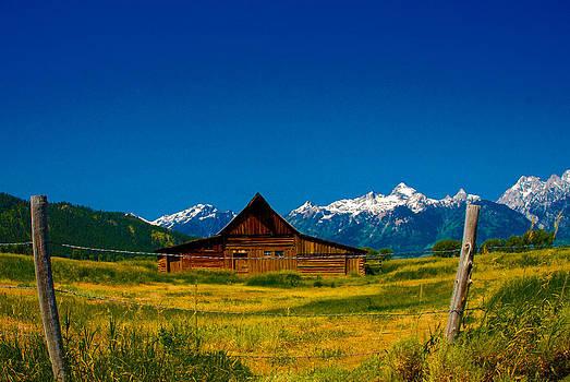 Barn in Grand Teton by Dany Lison