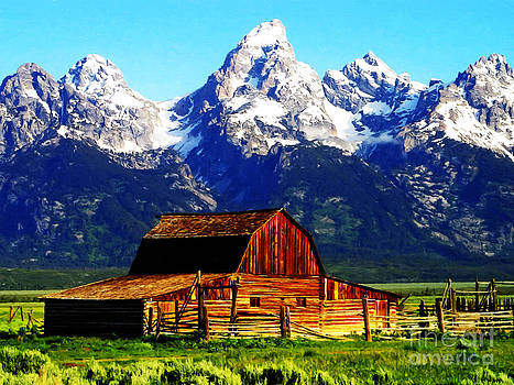 Barn in Montana by Larry Stolle