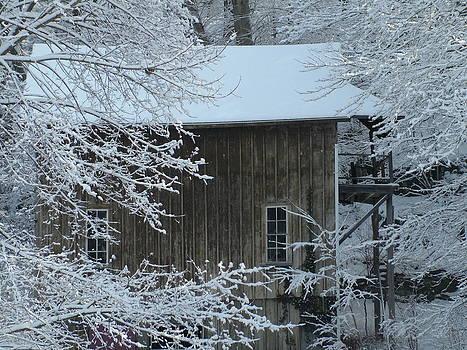 Barn in Winter by Geoffrey McLean