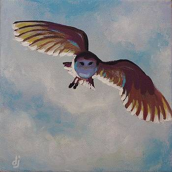 Barn Owl Swoop by Dorothy Jenson