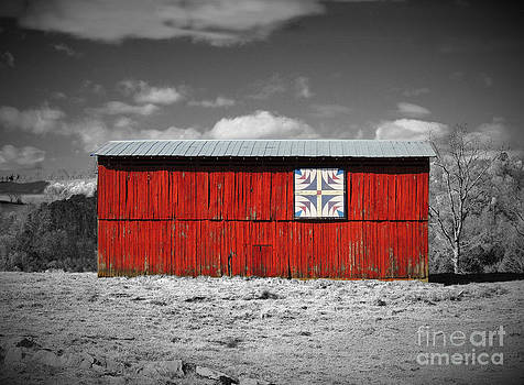 Barn with Quilt Block by Phil Penne