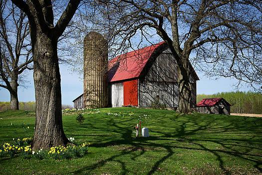 Mary Lee Dereske - Barn with Silo in Springtime