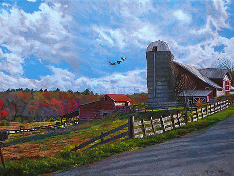 Barns at Rigor Hill by Kenneth Young