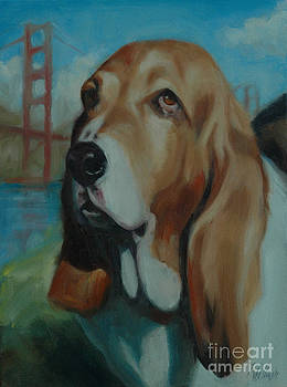 Basset Hound by Pet Whimsy  Portraits