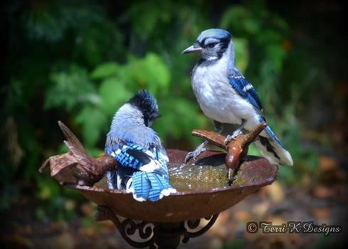 Bathing Blue by Terri K Designs