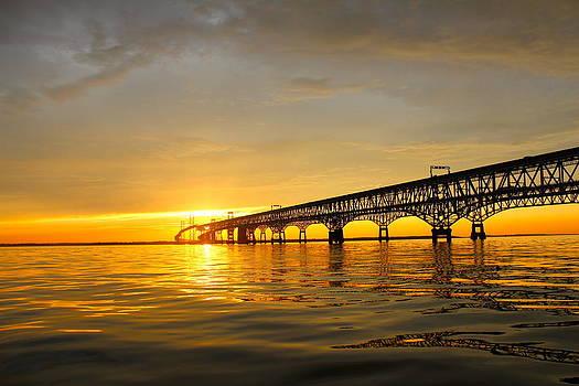 Bay Bridge Sunset Glow by Jennifer Casey
