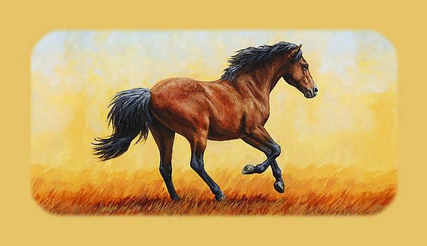 Crista Forest - Bay Running Horse Phone Case