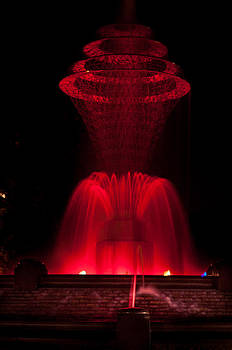 Bayliss Park Fountain red by Becky Meyer