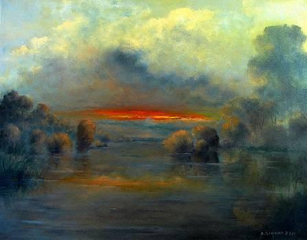 Bayou Evening 22x28 by Boris Garibyan