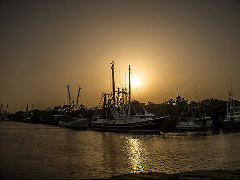 Bayou la Batre Shrimp Boats by Gretchen Friedrich
