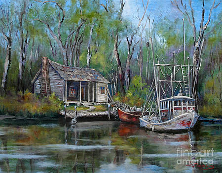 Bayou Shrimper by Dianne Parks