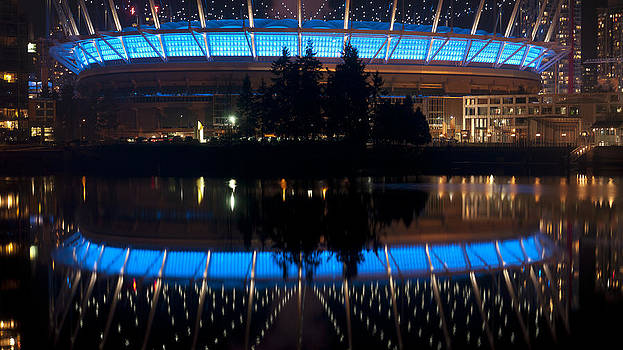 BC Place Reflective by Dirk Lightheart