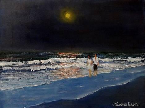 Beach At Night by Juan Sandin