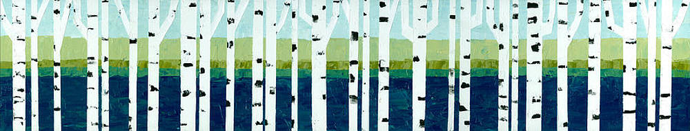Michelle Calkins - Beach Birches Pano