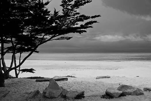 Randall Branham - Beach Blacknwhite Carmel by Sea