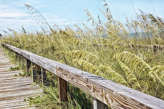 Beach Boardwalk by Nancie Rowan