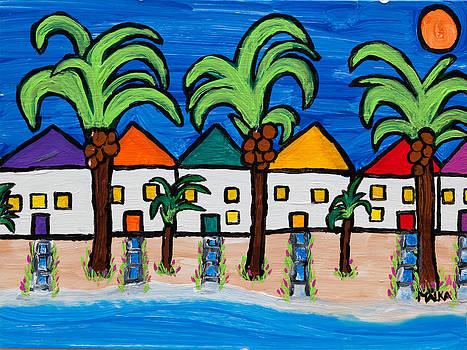 Beach Bungalows by Marlene MALKA Harris