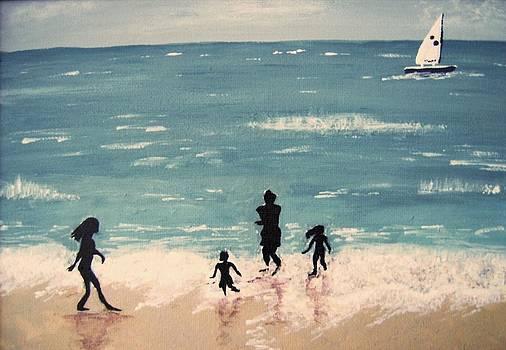 Beach Dad by Janice W Deetscreek