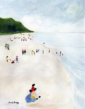 Beachgoers 1999 by Janel Bragg