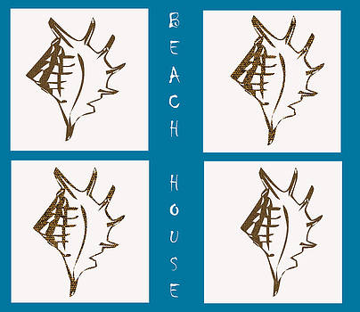Kate Farrant - Beach House Shells sign