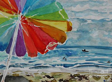 Beach Parasol by Emily Michaud