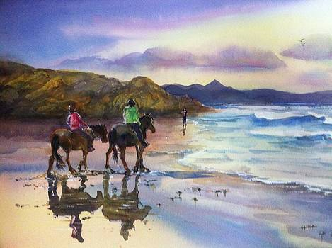 Beach Ride Byron Bay by Shirley Roma Charlton