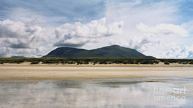 Beach Sky and Mountains by Rebecca Harman