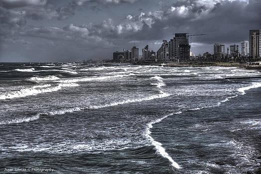 Isaac Silman - Winter morning wavesTel Aviv