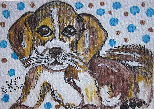 Beagle Pup by Kathy Marrs Chandler