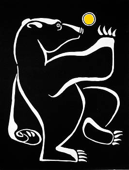 Bear Dancing under the Moon by Vadim Vaskovsky