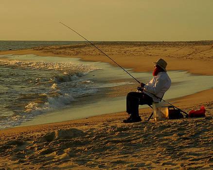 Bearded Fisherman by Glenn McCurdy